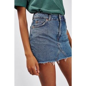 Topshop MOTO Denim Pelmet Skirt